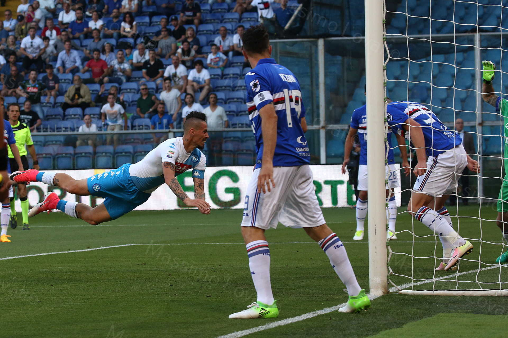 Sampdoria - Napoli 2016/2017 Hamšík in gol