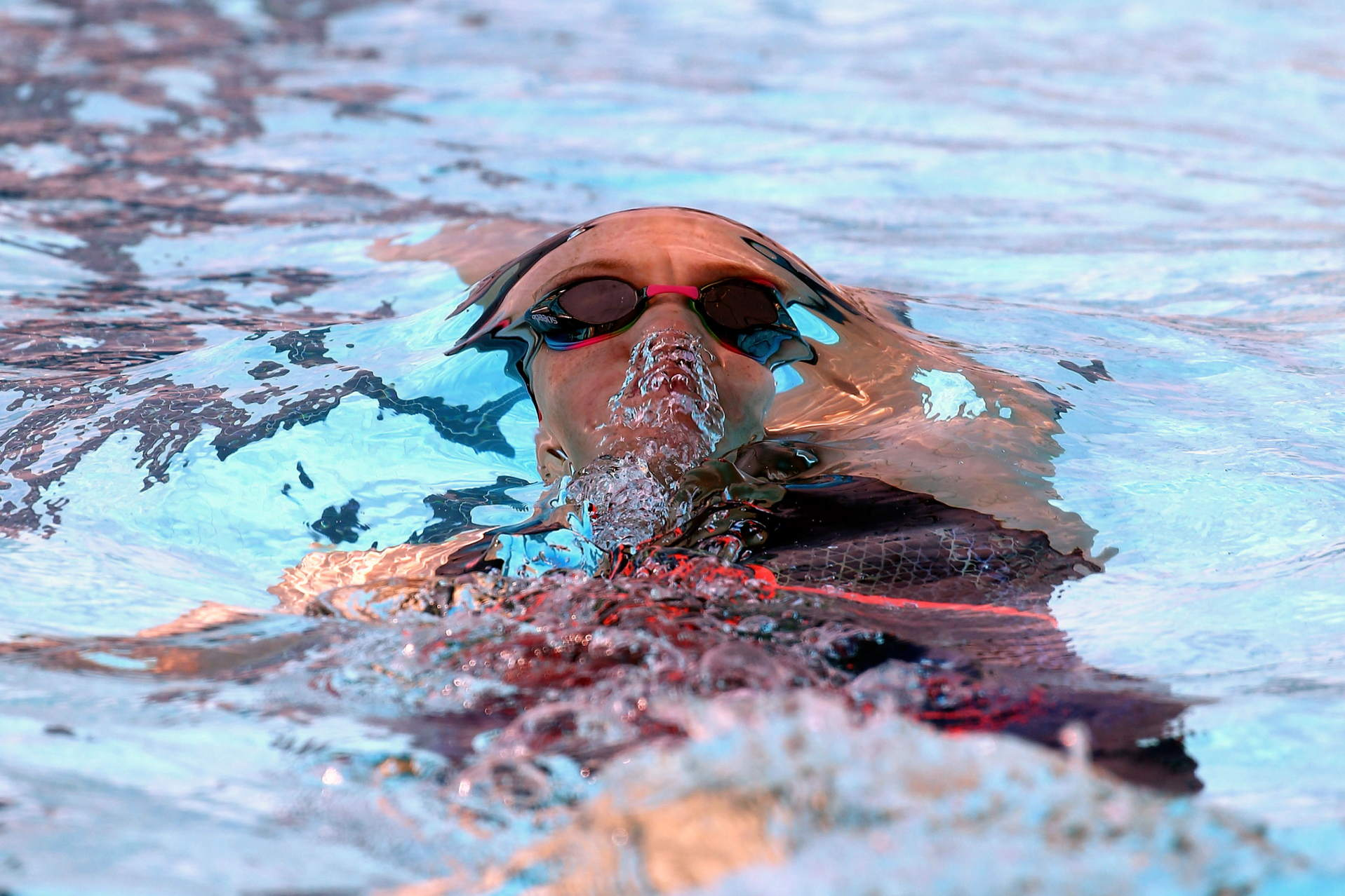 Roma,Internazionali di Nuoto 54° 7 Colli, morning Session nella foto Madison Wilson, bolla a dorso
