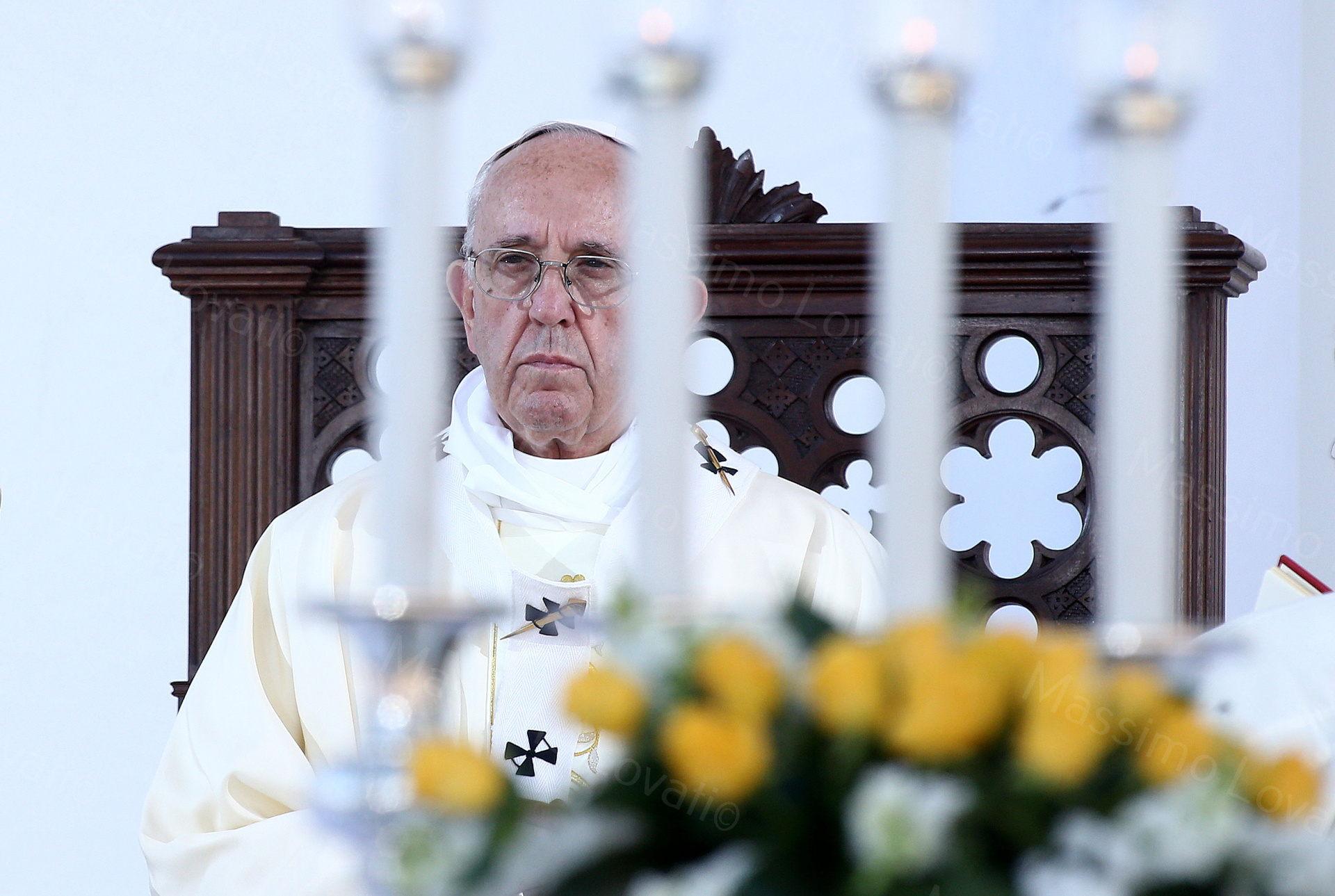 Visita pastorale di Papa Francesco, Santa Messa in piazzale Kennedy