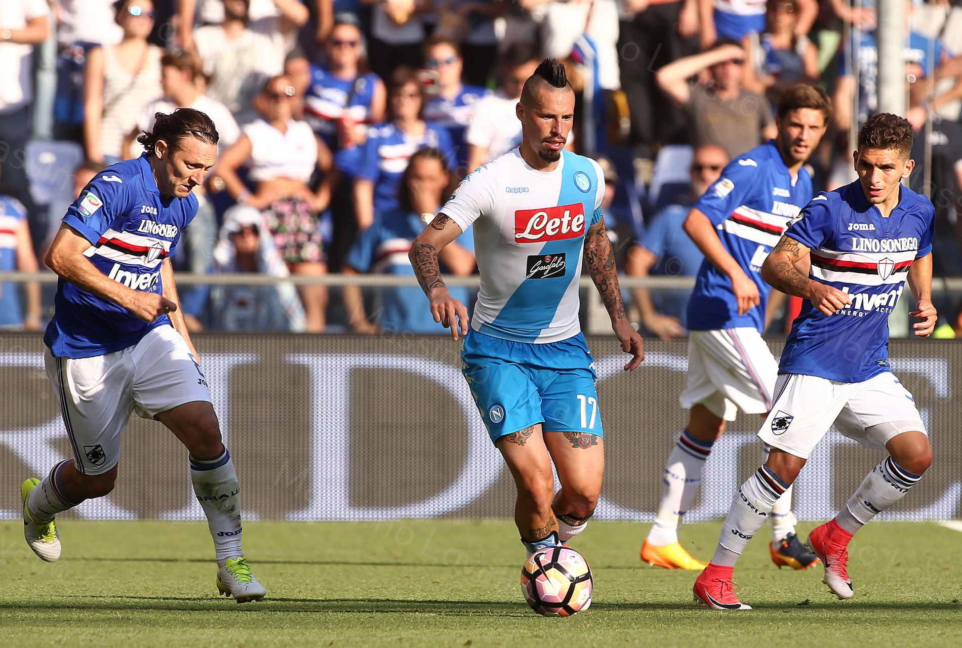 Sampdoria - Napoli 2016/2017 Hamšík in azione