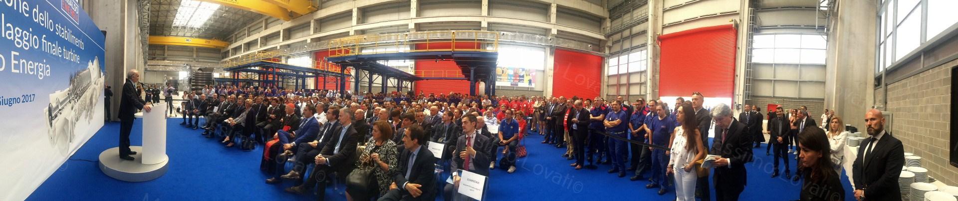 Inaugurazione nuovo stabilimento Ansaldo Energia di Cornigliano