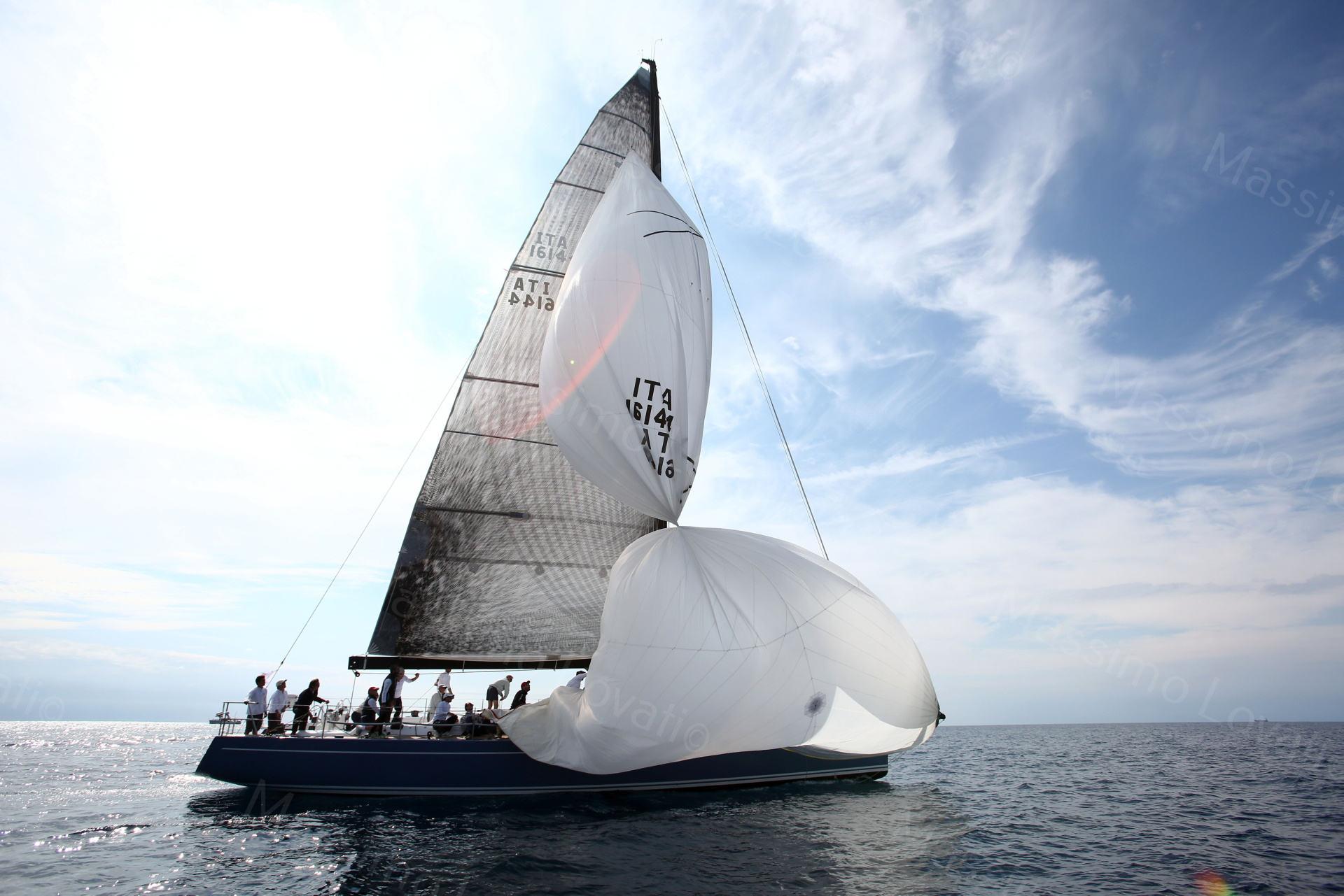 23/09/2017 Genova, Regata Millevele, nella foto Itacentodue ( primo classificato) con le vele a caramella