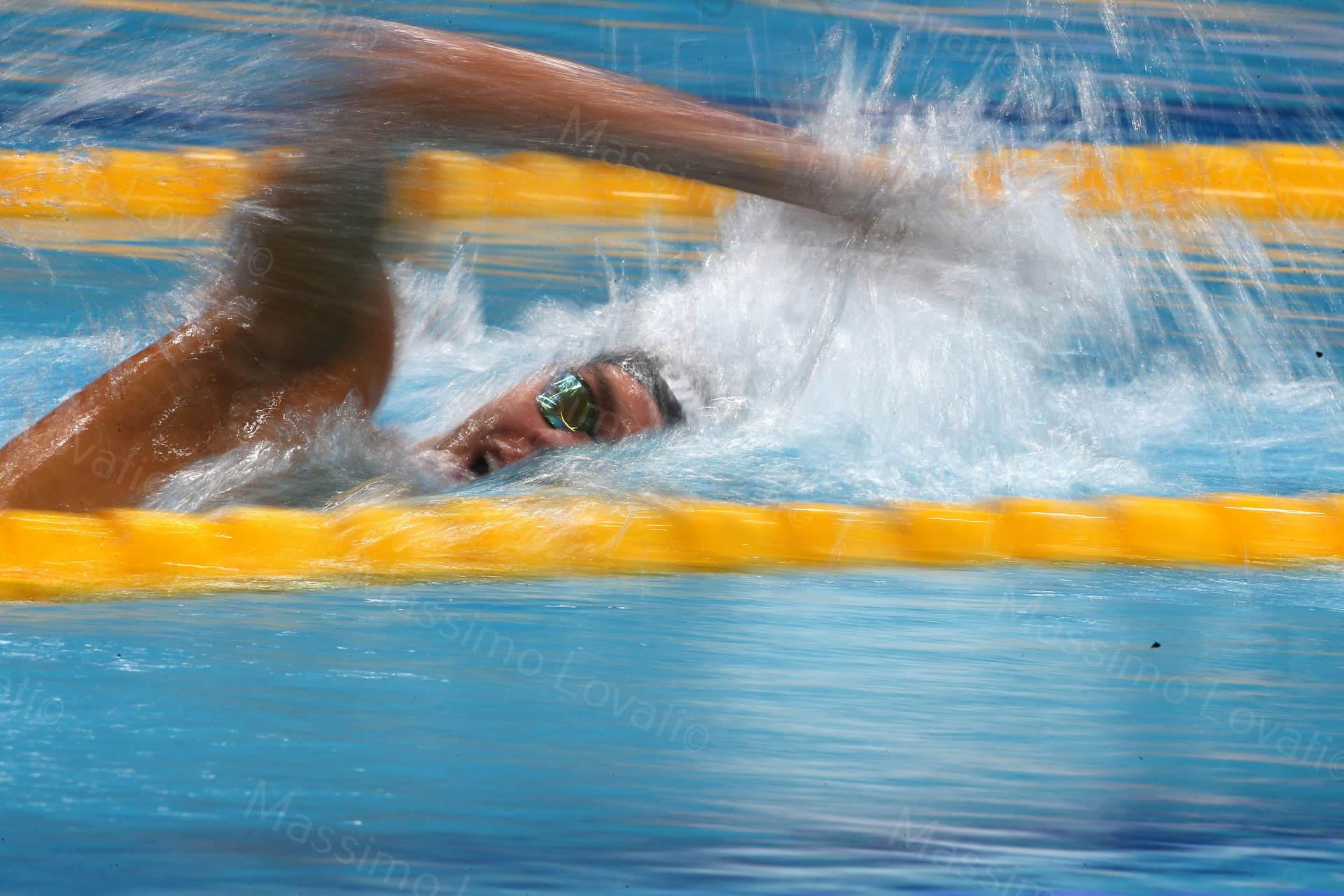Mondiali FINA 2017, Budapest, Paltrinieri in azione