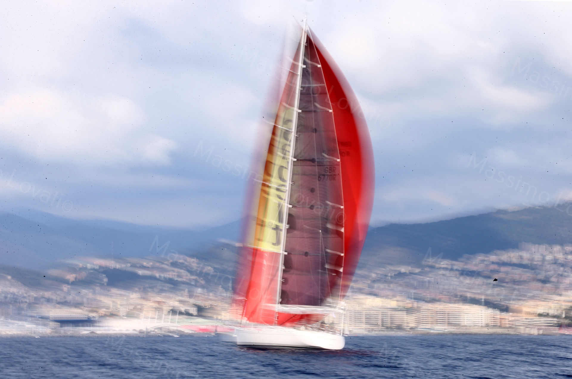 23/09/2017 Genova, Regata Millevele,nella foto Flying Dragon di Giorgio Marsiaj
