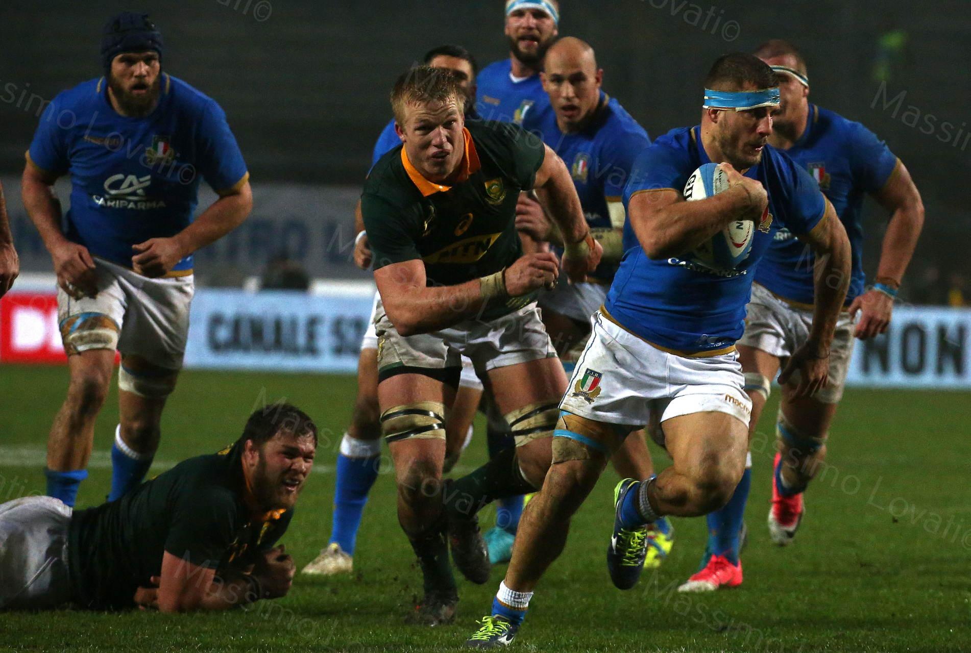 25/11/2017 Padova Rugby Test Match Italia - Sudafrica, nella foto  Tommaso Castello