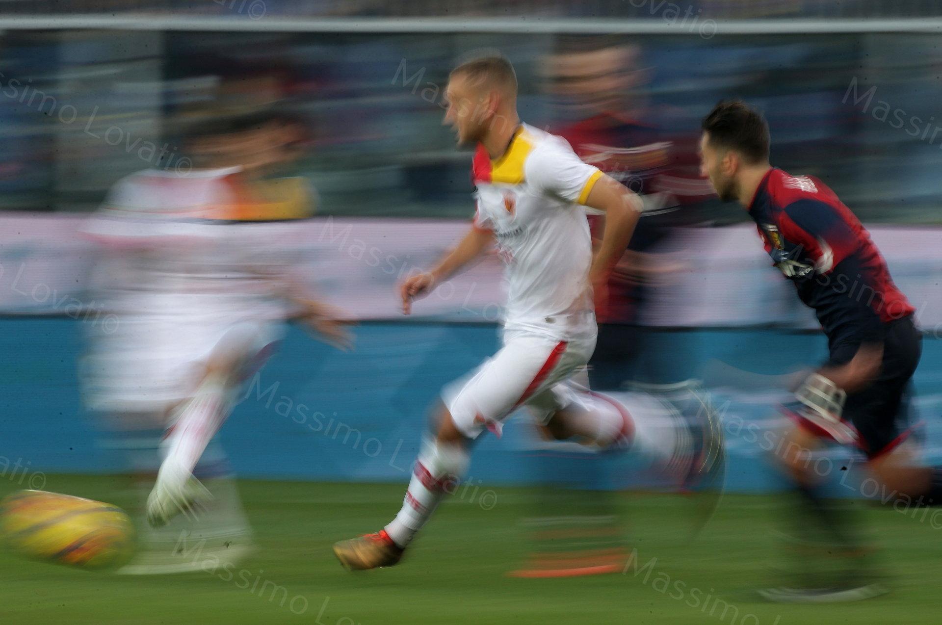 23/12/2017, Genova , Campionato di Calcio Serie A, Genoa- Benevento, nella foto azione di gioco