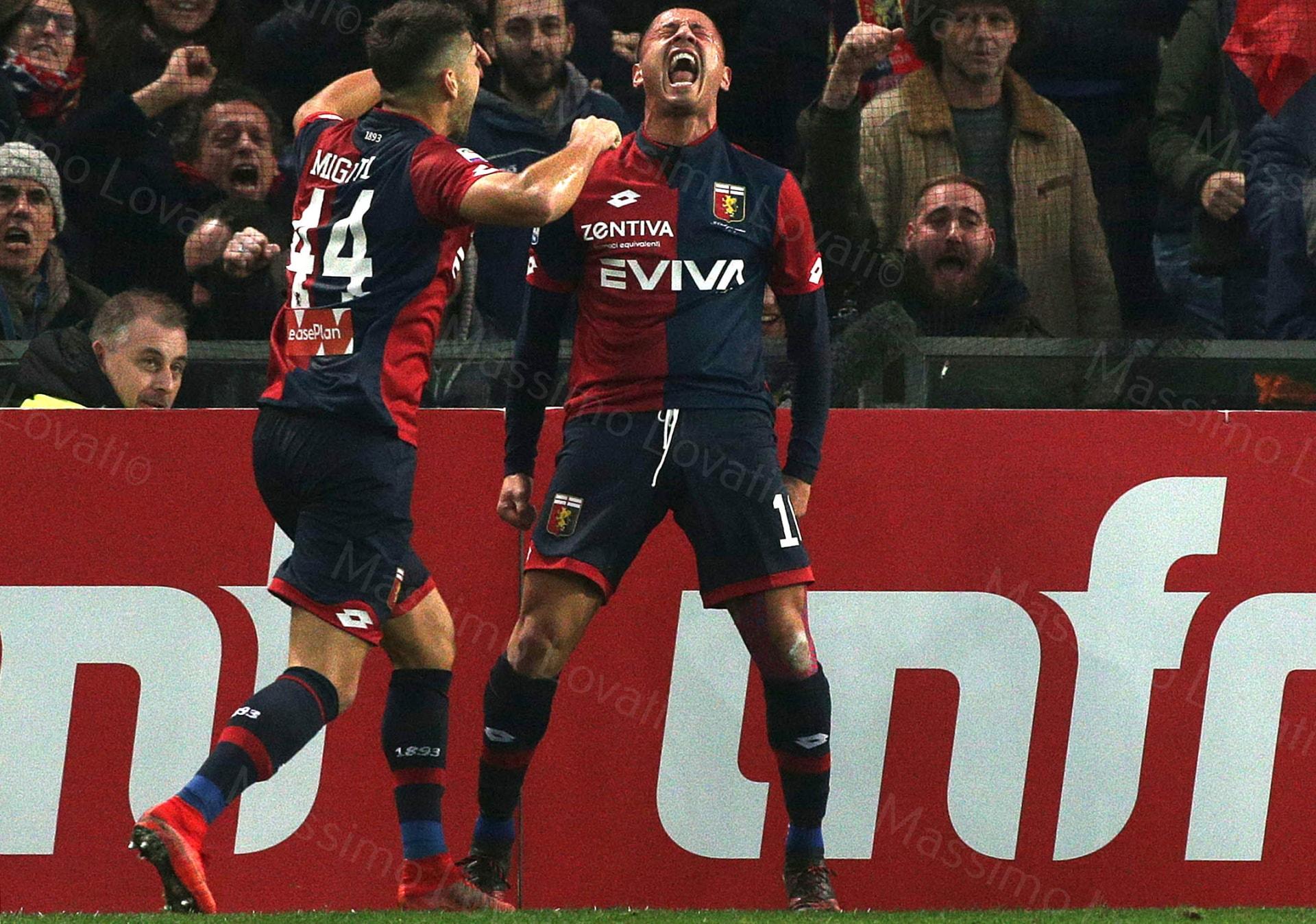 23/12/2017, Genova , Campionato di Calcio Serie A, Genoa- Benevento, nella foto esulti dio Lapadula dopo il goal