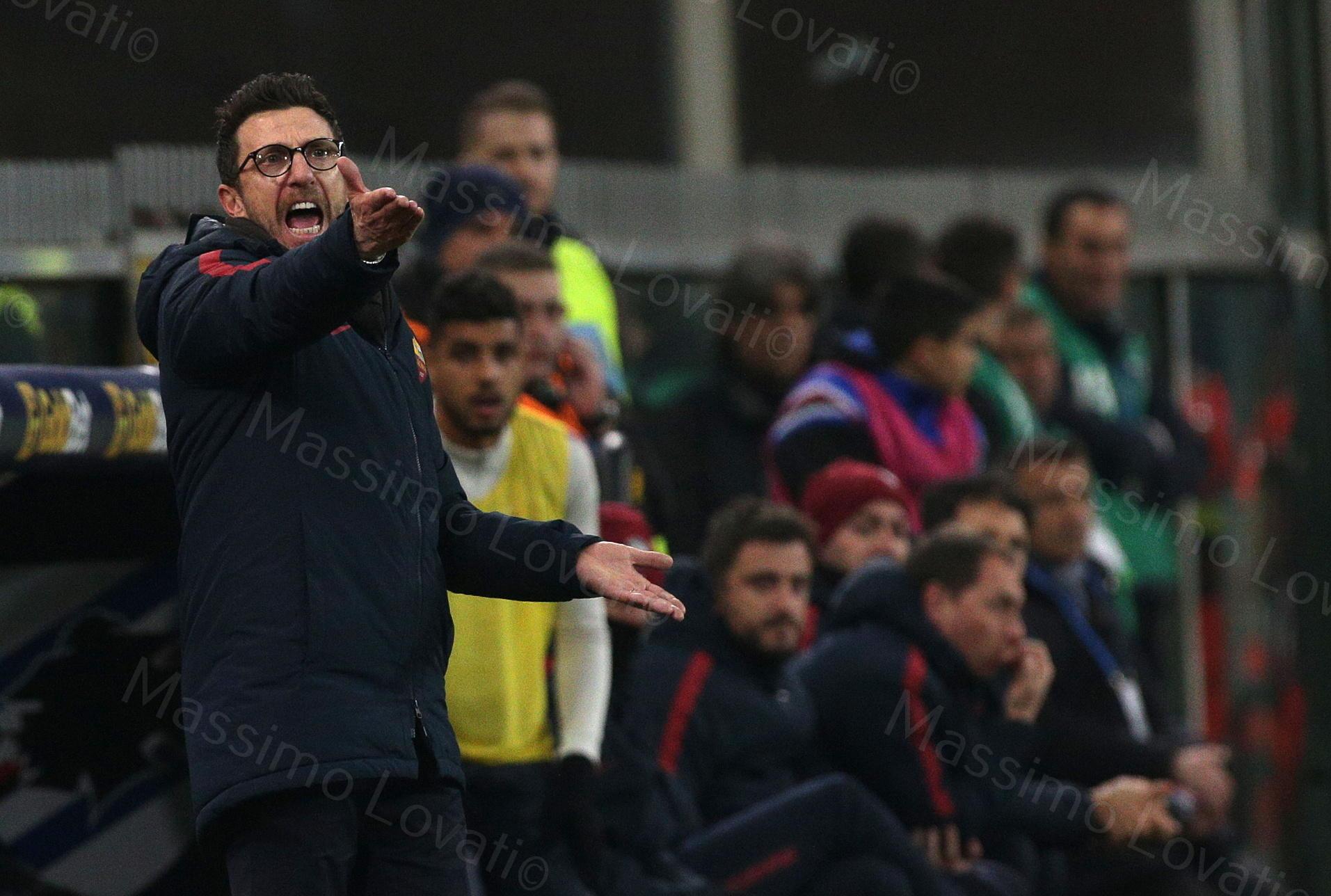 24/01/2018, Genova, Campionato di Calcio di Serie A, Sampdoria-Roma, nella foto Di Francesco