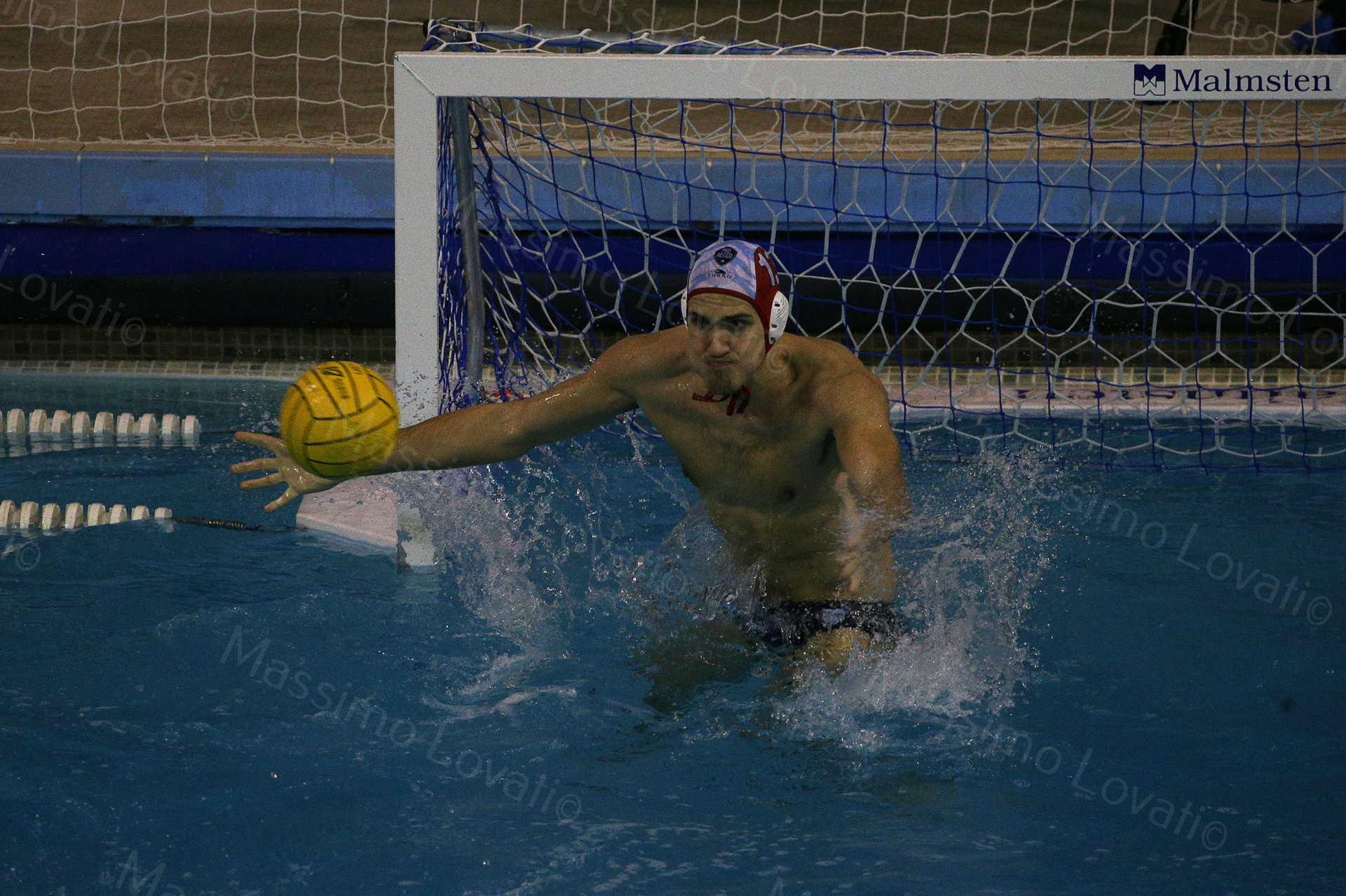 13/01/2018, Genova, LEN Champion League, Pro Recco- Sabadel, nella foto Massaro Francesco secondo portiere Pro Recco