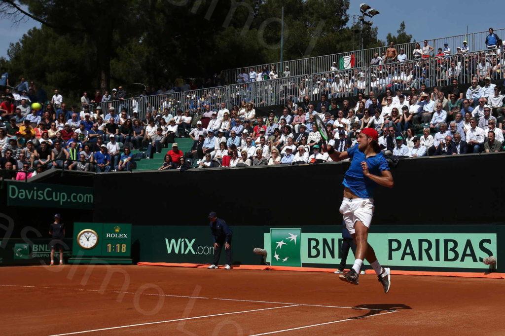 08/04/2018, Genova, Coppa Davis, Quarti di Finale, Fognini – Pouille