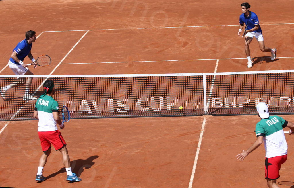 07/04/2018, Genova, Coppa Davis, Quarti di Finale, Doppio: Bolelli – Fognini, Herbert – Mahut