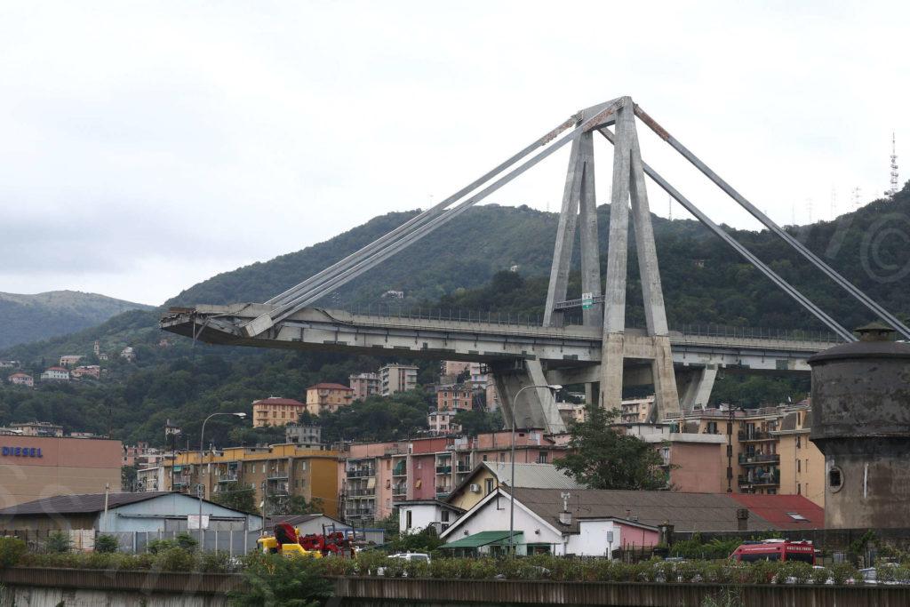 14/08/2018, Genova, Crollo del Ponte Morandi sulla A10