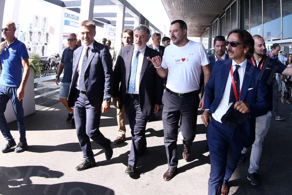 21/09/2018, Genova, il premier Salvini in visita al Salone