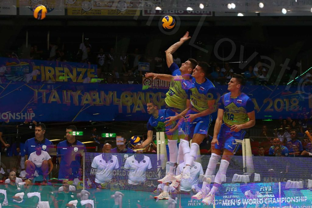 15/09/2018 Firenze FIVB Volleyball Men's World Championship 2018, Belgio Slovenia