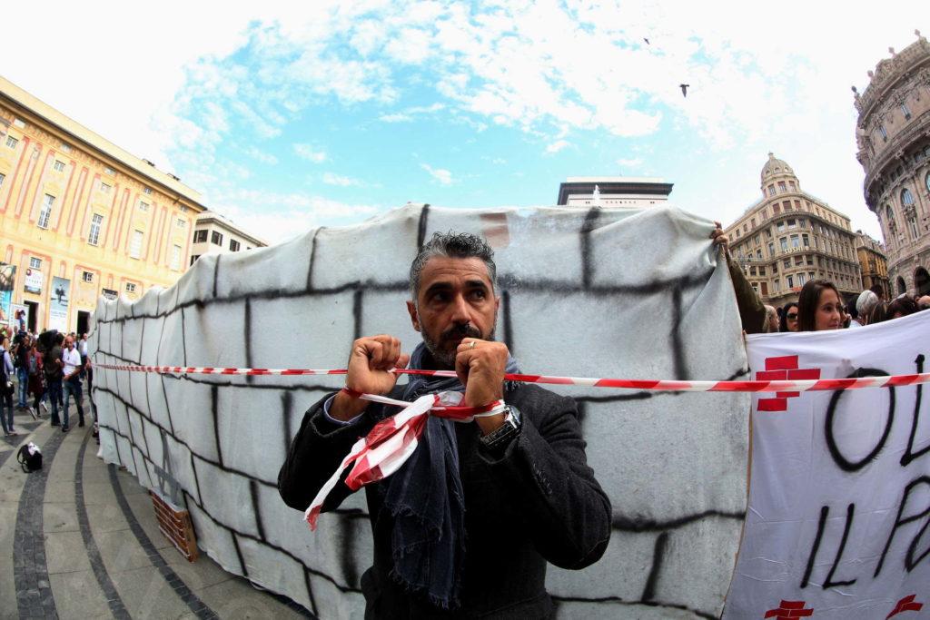 08/10/2018, Genova, Manifestazione dei Residenti e Sfollati della Val Polcevera