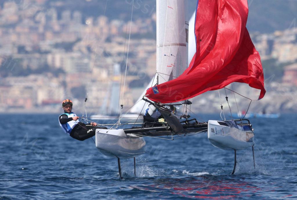 18/04/2019, Genova, Hempel World Cup Series, classi Nacra17, 470, 49er