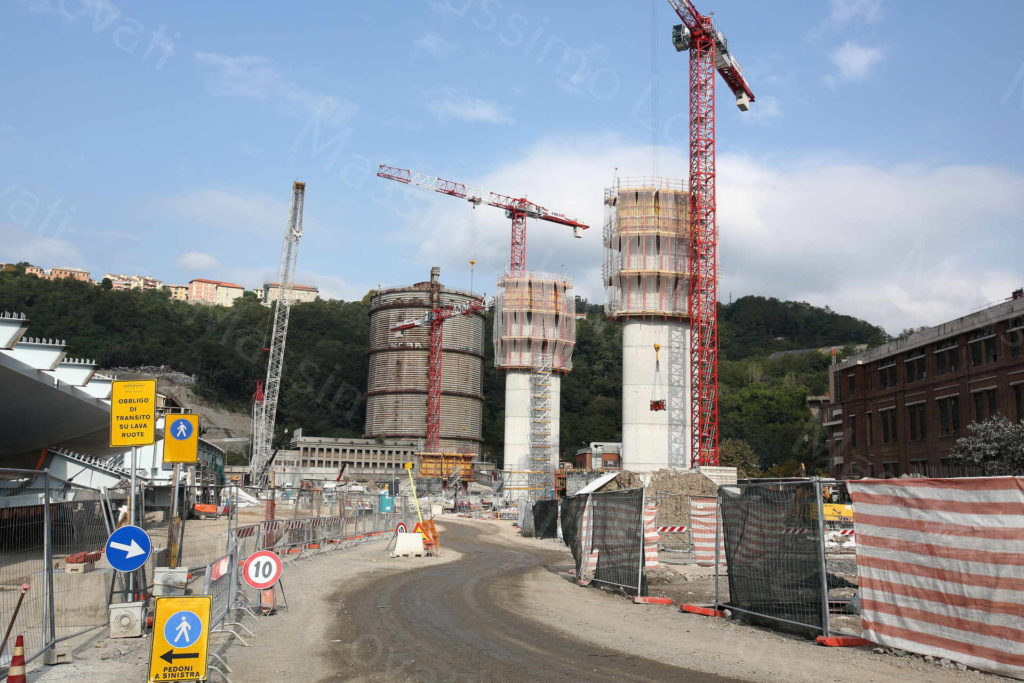 18/09/2019, Genova , Cantiere del Nuovo ponte sul Polcevera, Pile 9,8,7,6,5,4 e Campate