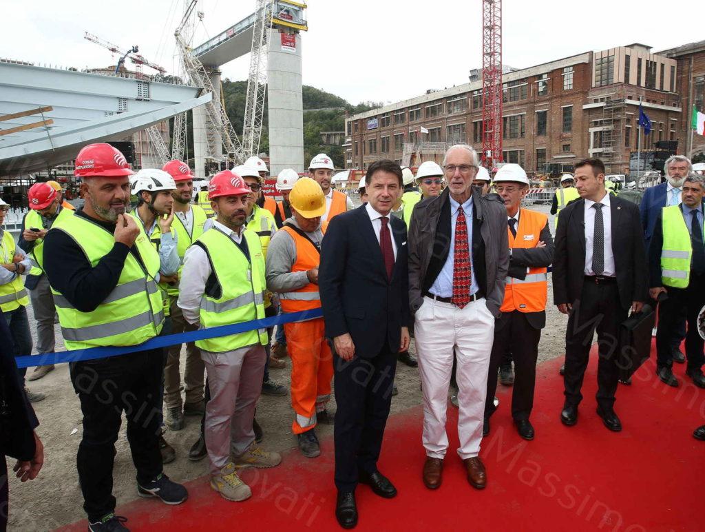 01/10/2019,Genova il Varo del primo Impalcato sulle pile 5 e 6 del nuovo ponte sul Polcevera