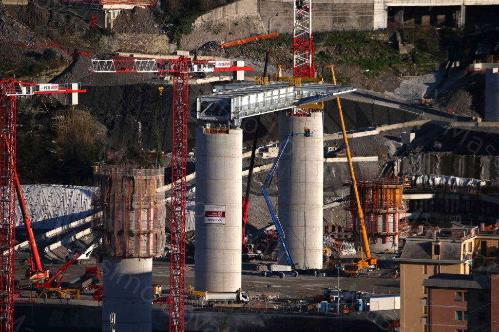 23/12/2019, Genova, l'impalcato tra la pila 14 e 15 nel Parco Campasso, zona Levante