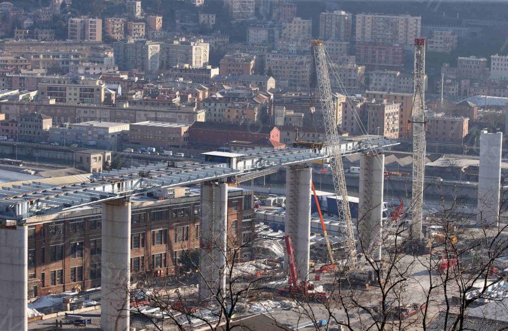 29/12/2019, Genova ,Nuovo Impalcato tra pila 7 e 8, zona Ponente