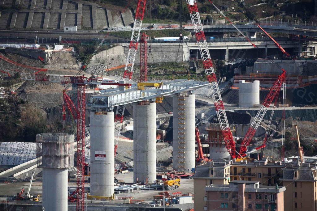 22/01/2020, Genova, Varo dell'Impalcato tra la pila 15 e 16 del nuovo Ponte sul Polcevera