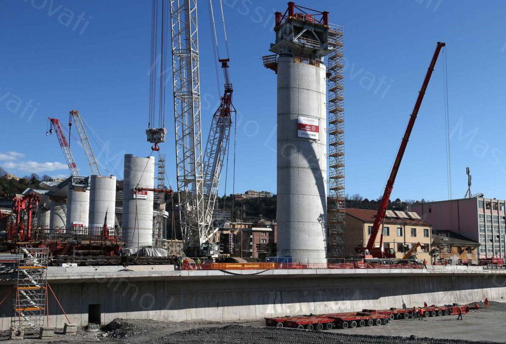 07/03/2020, Genova, avanzamento dei lavori del nuovo ponte sul Polcevera