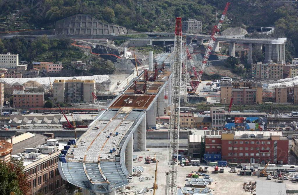 23/03/2020, Genova, Cantiere del novo ponte di Genova, 800 metri completati su mille
