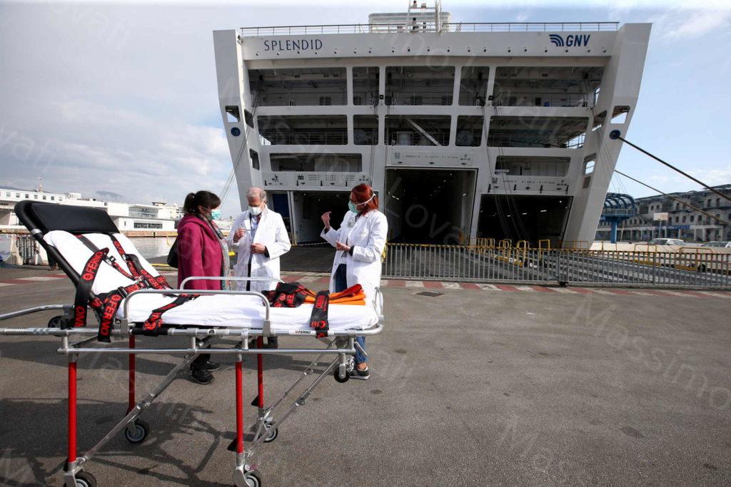 20/03/2020, Genova, La nave Splendid di GNV, trasformata in nave ospedale per l'emergenza Corona Virus