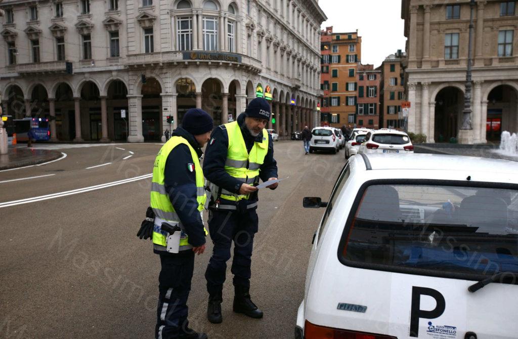 13/03/2020,Genova, Il centro città deserto a causa della pandemia del Coronavirus