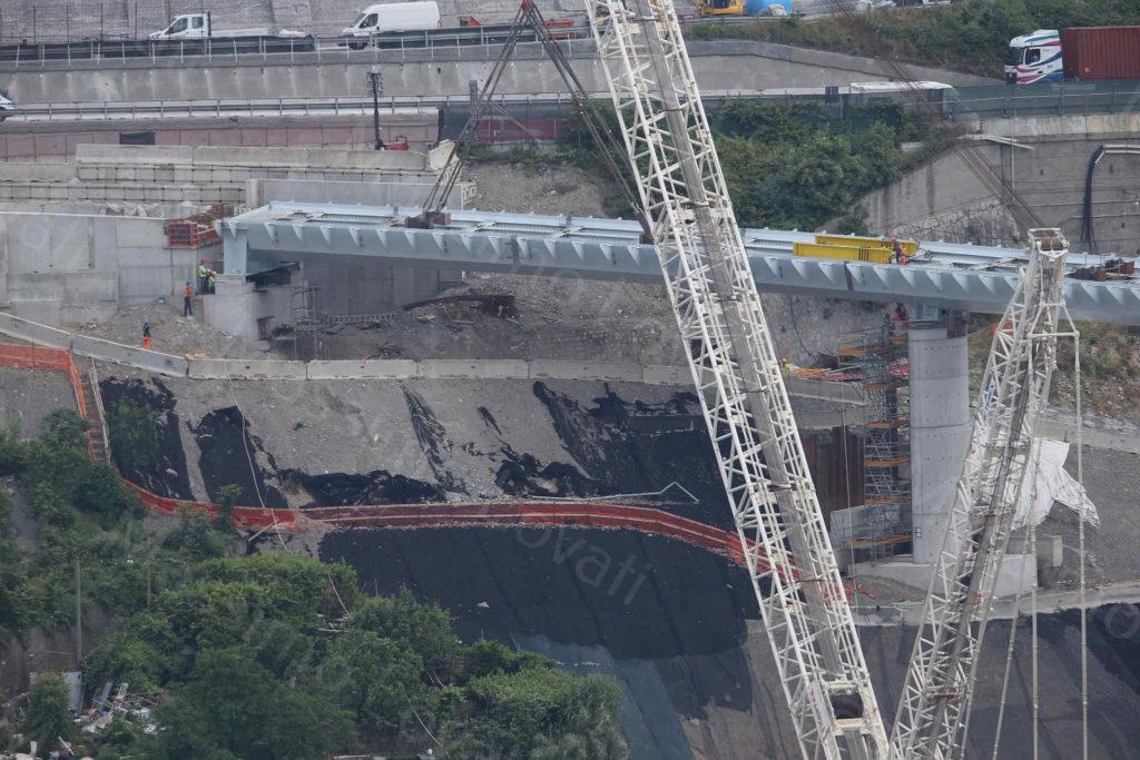 29/05/2020, Genova, Varo dell'ultima parte della rampa di raccordo con A7 del nuovo ponte sul Polcevera