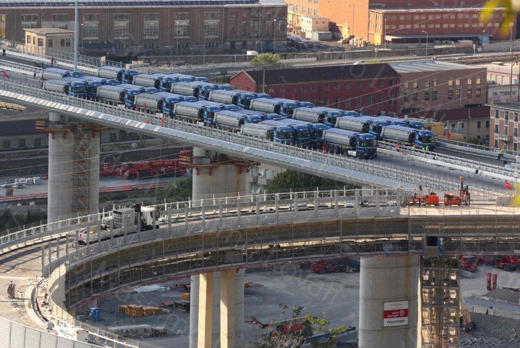 19/07/2020, Genova, Prove di Collaudo Fase Zero al mattino e Prove di Collaudo Statiche  al pomeriggio sul nuovo ponte sul Polcevera