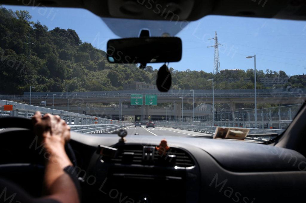 05/08/2020, Genova, Il Ponte Genova San Giorgio in funzione