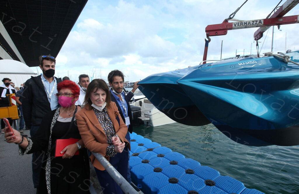 05/10/2020,Genova, 60esimo Salone Nautico, varo di Mambo la  prima imbarcazione stampata in 3D