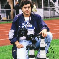 1985 Helsinky per i Campionati Europei di Football Americano con Canon 300mm f 2,8 e 500mm f 4,5 FD