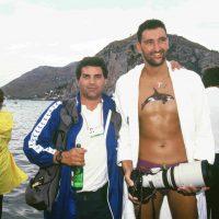 1991, con Sergio Chiarandini, argento agli Europei Nuoto nella 25 Km di Terracina