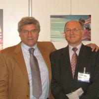 """2005, con Livio Berruti all'inaugurazione della mostra """"Modificazioni percettive"""" Palazzo Ducale Genova"""