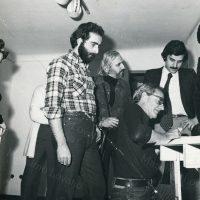 1977 GENOVA Con il grande MORELLET al Centro del Portello insieme a Torri