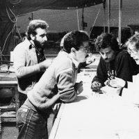 1978 Genova con la critica Viana Conti e gli artisti Luciano Fiannacca e Torri Laboratorio di ,Didattica delle tecniche di Stampa e  1