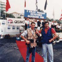 1988 Sanremo con Mario Brenna Premiazione gara Offshore