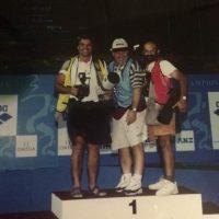 1991 Perth Mondiali di Nuoto sul podio con Bevilacqua e Rossi ( Italo australiano)
