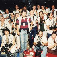 1991 Roma Campionato Europeo di Basket, con gli altri fotografi accreditati