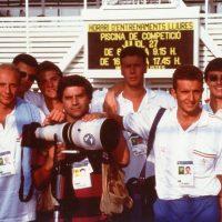 1992 Olimpiadi di Barcellona Con i nuotatori Nazionale Italiana nuoto Sacchi e Lamberti e altri