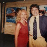 1994 Roma con Antonella Clerici alla inaugurazione di Colori e Magie, mostra ufficiale dei Mondiali Di Nuoto