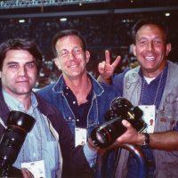 1994 Mondiali di Hokey su Ghiaccio Bolzano Palaonda con Guido Bagatta e il fotografo Claudio Scaccini