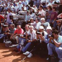 1994 Roma Finale degli Internazionali di Tennis Campo Centrale con gli altri fotografi accreditati