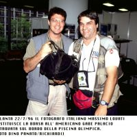1996 Atlanta Olimpiadi Main Press Center . Riconsegnavo un attrezzatura trovata al fotografo del Time
