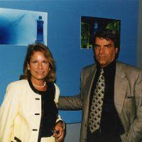 """1997 Salone Nautico con la Presidente della Fiera di Genova Carla Gardino alla inaugurazione mostra """"Lanterna e dintorni"""""""