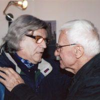 2009 Genova con Guido Ziveri amico grande artista e comunicatore alla galleria Artre