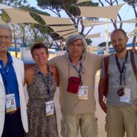 2009, Roma con Camillo Cametti, capo ufficio stampa mondiali di nuoto