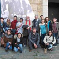 2013, con allievi del io corso di fotografia del Liceo Cassini Genova in  visita alla mostra di Robert Doisneau